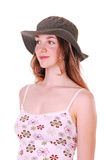 Young lady with hat. Stock Image