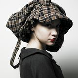 Young lady with hat Stock Photo
