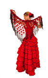 Young lady in hispanic red dress Stock Photo