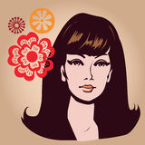 Young lady  illustration Royalty Free Stock Photos