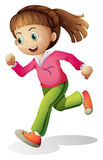 A young lady jogging Stock Photography