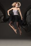 Young lady jumping Royalty Free Stock Images