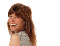Young lady laughing Stock Images