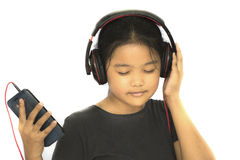 Young lady listening song Royalty Free Stock Photography