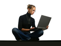 Young Lady with notebook. Young attractive beautiful lady with notebook stock image