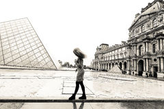 Young lady in Paris Royalty Free Stock Photography