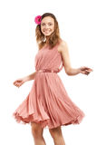 Young lady in pink dress Royalty Free Stock Photos