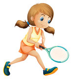 A young lady playing tennis Stock Images
