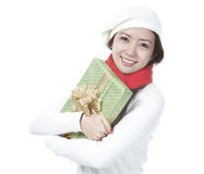 Young Lady With A Present Royalty Free Stock Photo