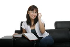 Young Lady Reading Royalty Free Stock Images