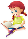A young lady reading a book Royalty Free Stock Photos