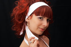 Young lady with red hair Royalty Free Stock Photo