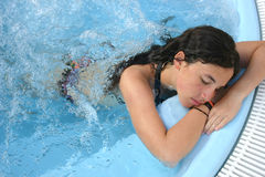 Young Lady Relaxing Royalty Free Stock Photos
