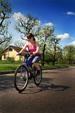 Young lady riding Royalty Free Stock Photography