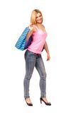 Young lady shopping Royalty Free Stock Photography