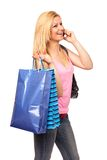 Young lady shopping Stock Image
