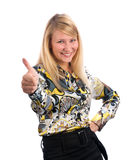Young lady showing thumb's up Stock Image