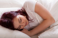 Young lady sleeping Royalty Free Stock Photo