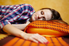 Young lady sleeping Stock Photos
