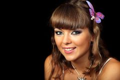 Young lady smiling Stock Image