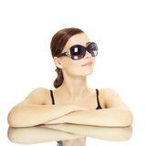 Young lady with sunglasses Stock Photos