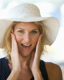 Young lady surprised Royalty Free Stock Photo
