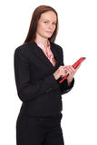 Young lady talking on mobile phone. Happy young lady talking on mobile phone stock photo