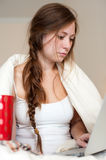 Young lady waking up Royalty Free Stock Images