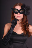 Young lady wearing mask Stock Photography