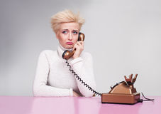 Crying phone Stock Photography