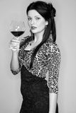 Young lady with wineglass Royalty Free Stock Images