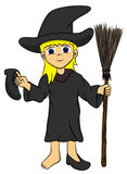 Young lady witch Stock Photo
