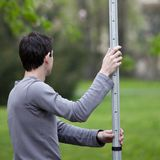 Young land surveyor Royalty Free Stock Photo