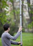 Young land surveyor Stock Photo