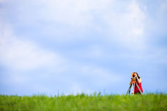Young land surveyor Stock Photo