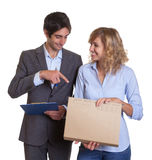 Young latin business team at work Royalty Free Stock Photos