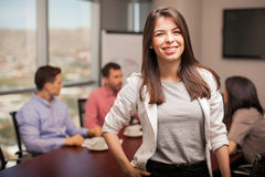 Young Latin businesswoman Royalty Free Stock Image