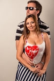 Young latin couple in love. Modern Young latin couple in love Stock Photo