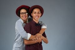 Young latin couple royalty free stock photo