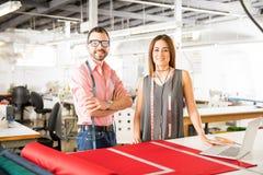 Young Latin fashion designers at work Stock Image
