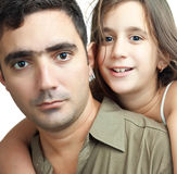 Young latin father and his daughter Stock Photos