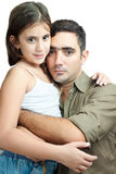 Young latin father hugging his daughter Stock Photography