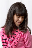 A Young Latin Girl With Long, Silky Hair Royalty Free Stock Images