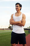 Young latin male athlete Stock Images