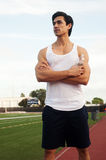 Young latin male athlete Royalty Free Stock Photography