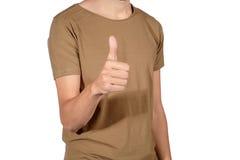Young latin man doing ok gesture. Stock Images