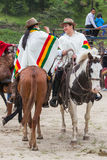 Young Latin Cowgirls Riding Horses Royalty Free Stock Photos