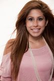 Young latina brunette woman Royalty Free Stock Image