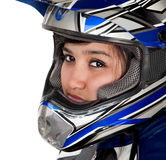 Young Latina Racer Stock Image