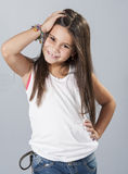 Young latino girl posing in studio Royalty Free Stock Image